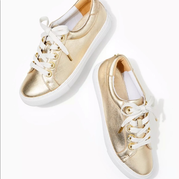 Lilly Pulitzer Shoes - NWT Lilly Pulitzer Lux Hallie Sneaker (Gold)